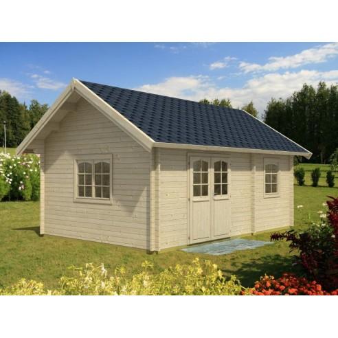 Résidence de loisirs Sandra 22.8+7.9 m² en bois massif 44 mm