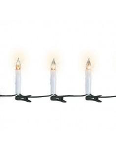Lanterne 30cm avec bougie LED sur piles - Lumineo