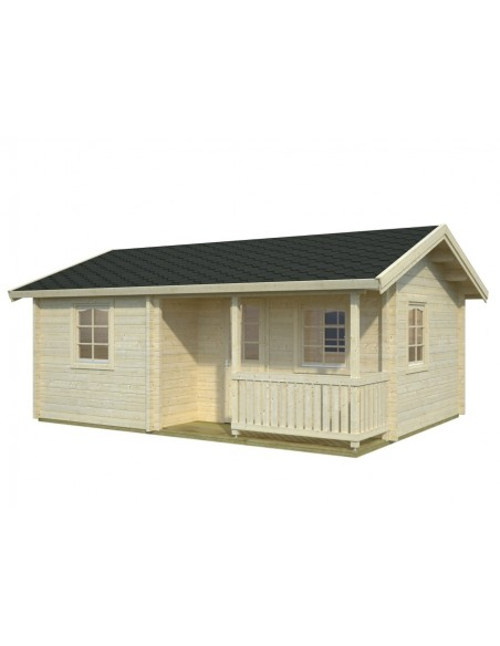 Résidence de loisirs Sandra 27 m² en bois massif 70 mm