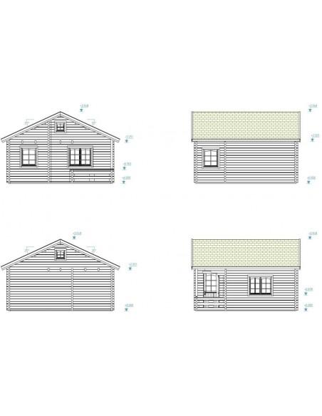 Résidence de loisirs Emily 31 m² en bois massif 70 mm