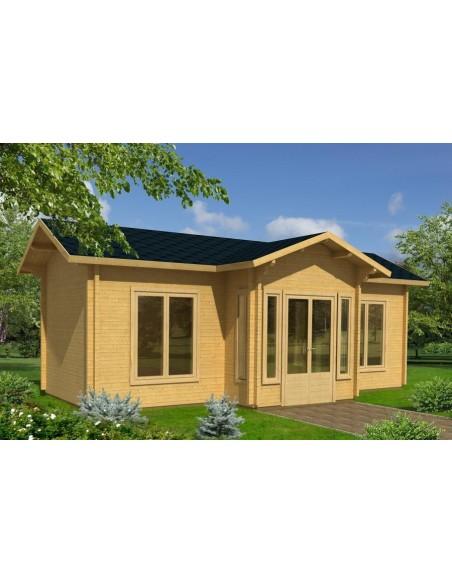 Résidence de loisirs Anna 27 m² - Plancher inclus - Bois massif 70 mm
