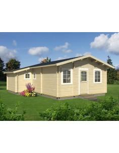 Résidence de loisirs Emily 39 m² - Plancher inclus - Bois massif 70 mm