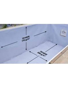 Feutre blanc de protection pour le fond de piscine - Outsideliving