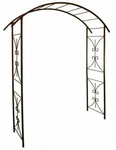 """Arche double """"décor pont"""" Louis moulin 180x50xH220 cm - Fer vieilli"""