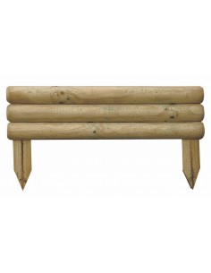 Bordure bocage 55x30 cm en bois traité autoclave