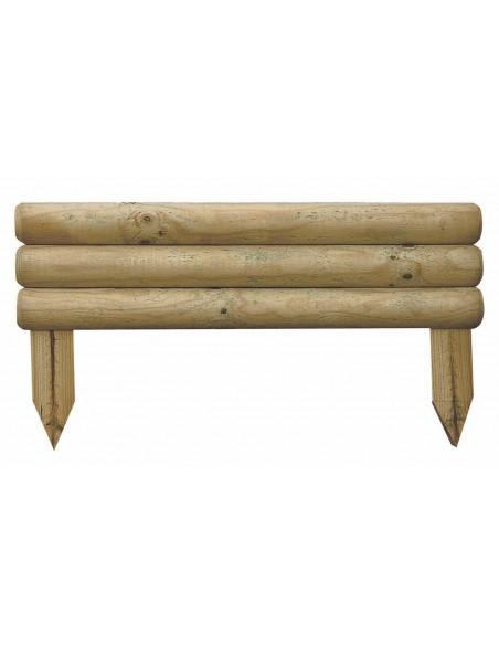 Bordure bocage 55xH30 cm en bois traité autoclave