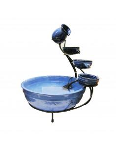 Fontaine d'extérieur en céramique bleu  H.60 cm - Outsideliving
