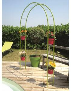 Arche avec cercles pour pots 130x22xH205 cm - Coloris au choix