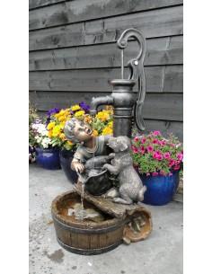 Fontaine petit garcon et chien Regina H.77 cm - Ubbink