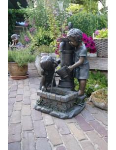 Enfants à la fontaine Atlanta H.69.5 cm - Ubbink
