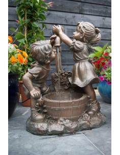 Enfants à la fontaine Menphis H.64 cm - Ubbink