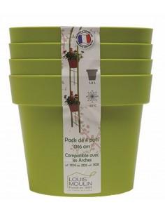 Pack de 4 pots pour arche avec cercles - Coloris au choix