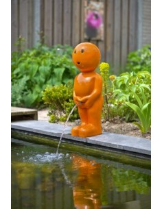 "Fontaine ""Männeken Pis"" Boy Orange  H.67 cm - Ubbink"