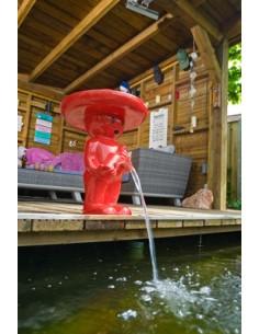 """Fontaine """"Männeken Pis Mexicano rouge H.47 ou 67 cm - Ubbink"""