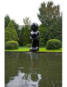 """Fontaine """"Männeken Pis XXL rouge/blanc /noir H.160 cm - Ubbink"""