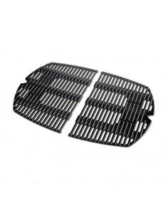 Lot de 2 grilles de cuisson en fonte d'acier émaillée Q séries 100 et 1000 - Weber