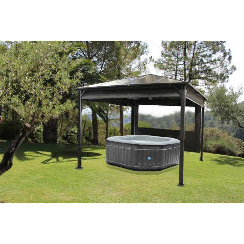 pergolas ideal 3x3 m aluminium et toit polycarbonate. Black Bedroom Furniture Sets. Home Design Ideas