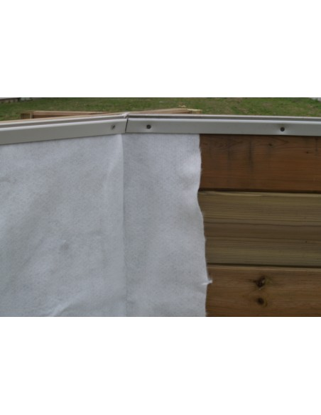 Piscine Linéa 350 x 1550 cm H.155 cm en bois - Outsideliving