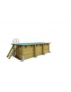 Piscine Linéa UrbanPool 250 x 450 cm H.140 cm en bois - Outsideliving