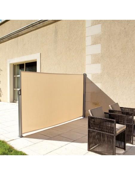Paravent Napa 3m sable - Aluminium et Polyester - Hespéride