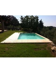 Piscine Sunwater 300 x 555 cm H.140 cm en bois - Ubbink