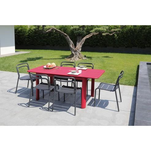 Table de jardin EOS en aluminium extensible 130/180 cm - Proloisirs