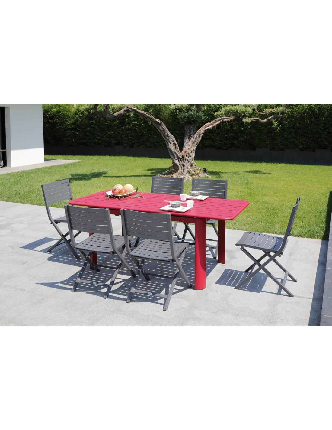 Table De En Proloisirs 130180 Jardin Eos Extensible Aluminium Cm 3ARL54jq