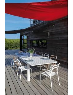 Table de jardin EOS en aluminium extensible 220/280 cm - Proloisirs