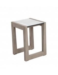 Table basse SKAAL en teck DURATEK et plateau HPL - Les Jardins
