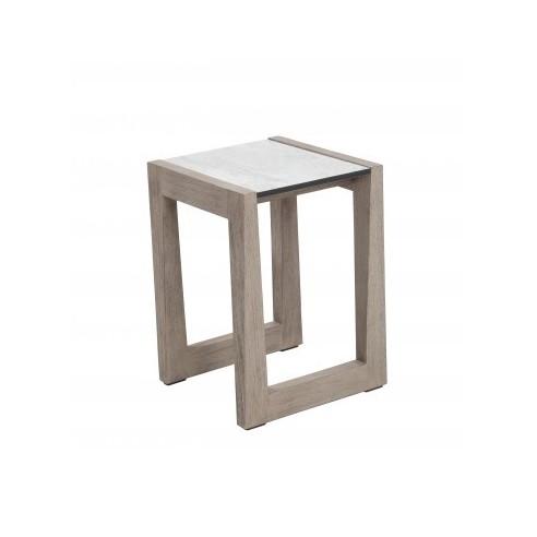 Table basse SKAAL 30 x 30 x 40 cm teck DURATEK HPL - Les Jardins