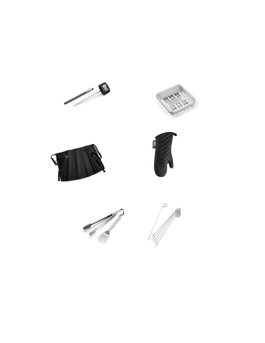pack de 6 accessoires pour cuire au barbecue weber. Black Bedroom Furniture Sets. Home Design Ideas