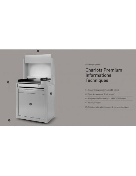 Chariot Premium inox fermé 45 pour plancha - Forge Adour