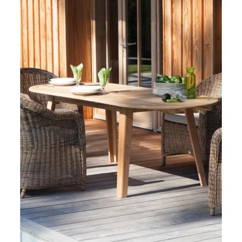 Table de jardin en bois Lola en Teck 160/200 cm - Proloisirs