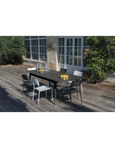 Table Dublin en aluminium extensible 180/240 cm Graphite ou Blanc - Océo