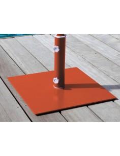 Pieds de parasol plat en acier 45*45 cm - Proloisirs