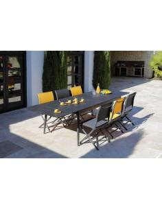 Table Dublin en aluminium extensible 200/300 cm Graphite ou Blanc - Océo
