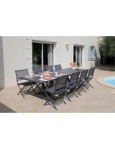 Table Aube extensible 180/240 cm en aluminium coloris au choix - Océo