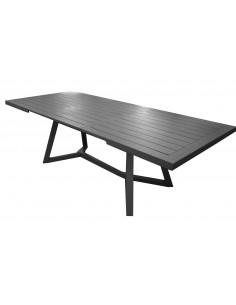 Table Agira extensible 180/240 cm en aluminium Graphite - Océo