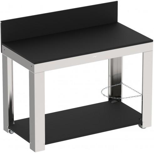chariot l on pour plancha inox et hpl eno. Black Bedroom Furniture Sets. Home Design Ideas