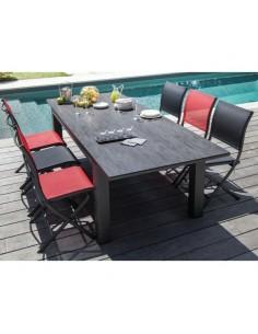Table de jardin Flo HPL trespa 180/240 cm Grey / Brun - Océo