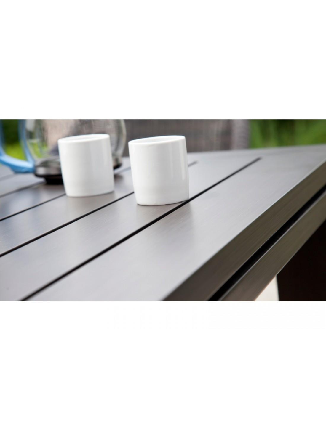 Table de jardin 100/153x153 cm Latino aluminium brush ...