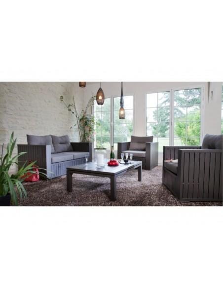 Canapé sofa Latino Brun Brush 2 places - Proloisirs