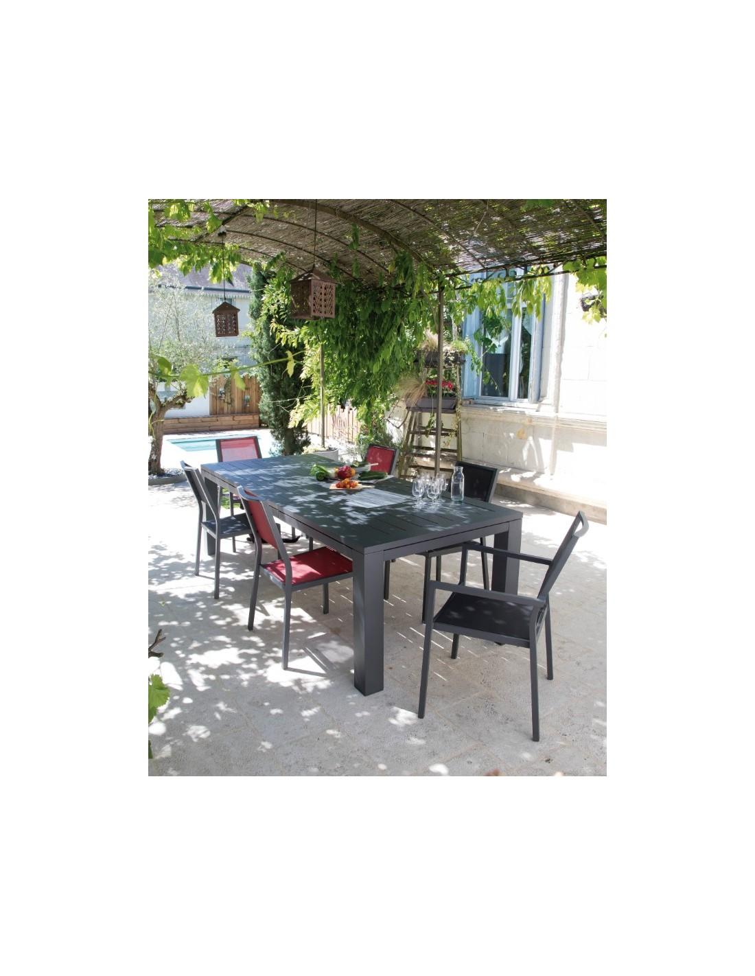 Table de jardin Latino extensible - Coloris au choix - Proloisirs