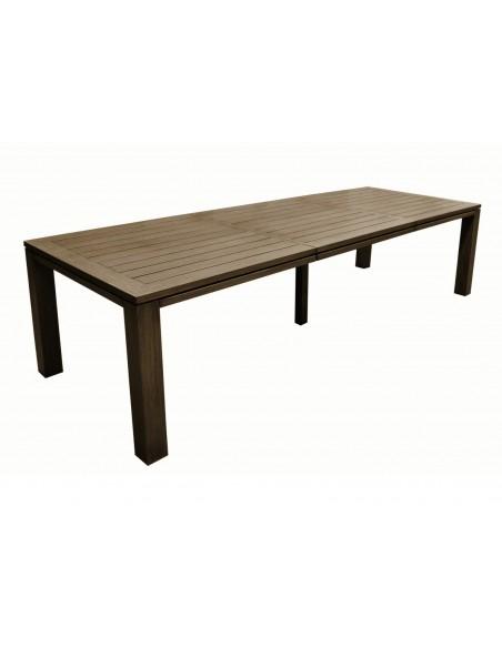 Table Latino en aluminium extensible 200/300 grey ou brun - Proloisirs