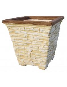 Vase ancien évasé en pierre reconstituée - Grandon