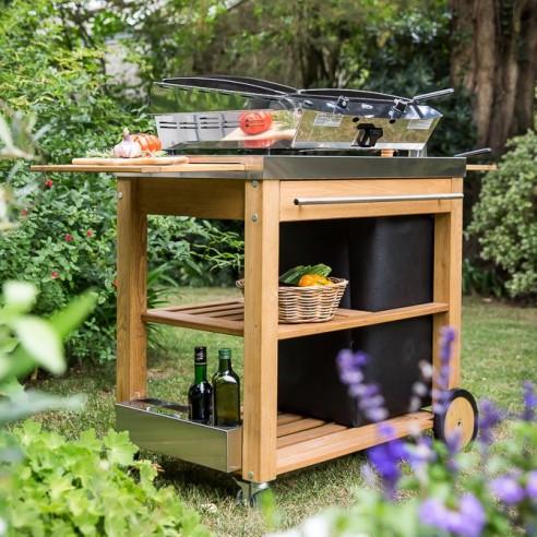 chariot eno mobilot pour plancha. Black Bedroom Furniture Sets. Home Design Ideas