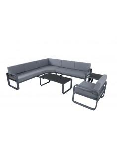 Set lounge Widero d'angle 6 pièces - Aluminium anthracite
