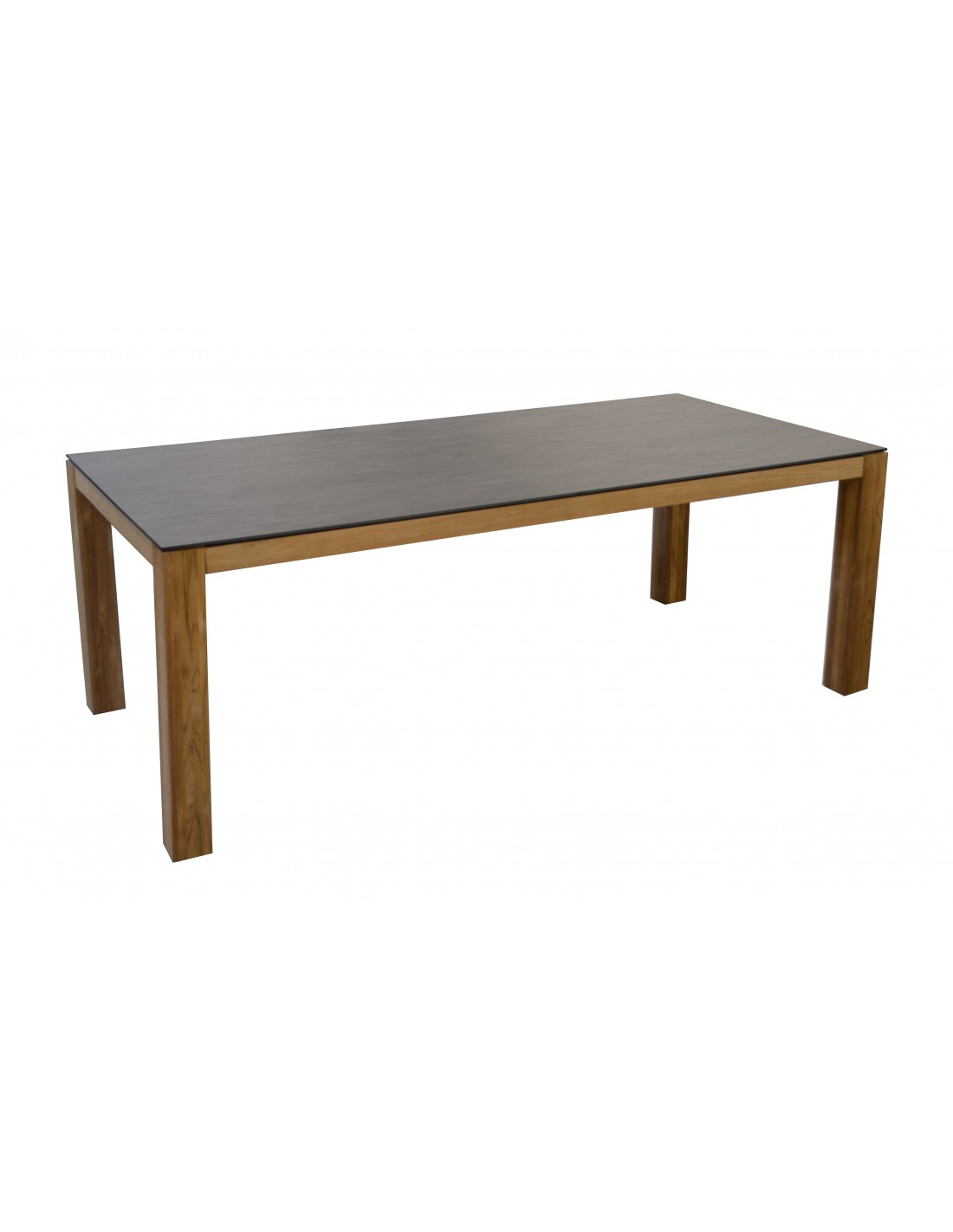 Table de jardin Asola en teck et plateau HPL Trespa - Océo