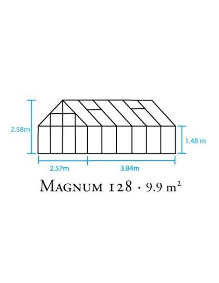 Serre Magnum HALLS 9.9 m² en verre trempé 3 mm