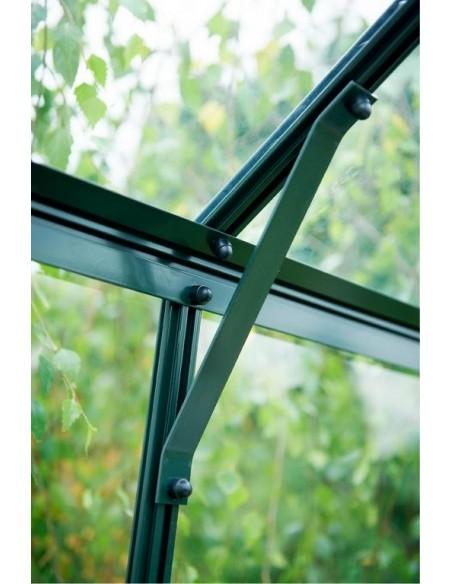 Serre Magnum HALLS 9.9 m² laquée verte en verre 3 mm
